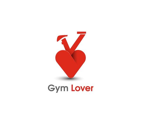 Gym lover web icons und vektorlogo