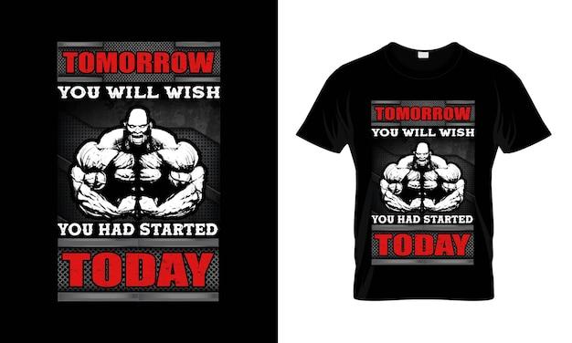 Gym motivationszitat mit grunge-effekt vektor-design für t-shirt