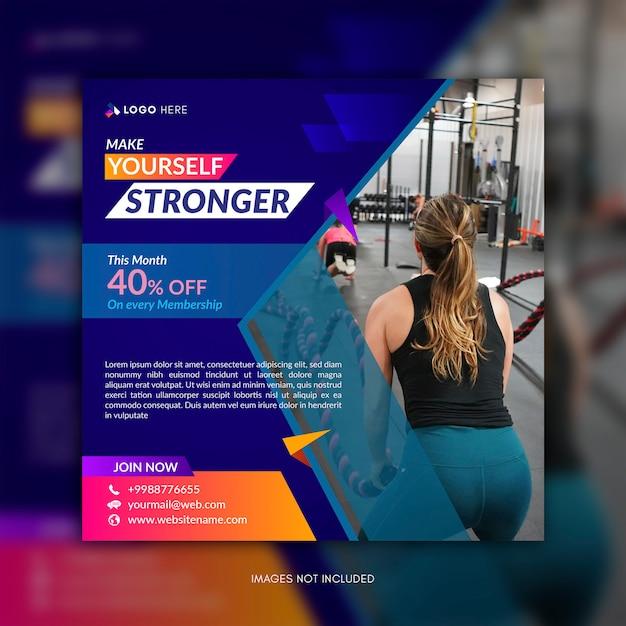 Gym social media post vorlage premium