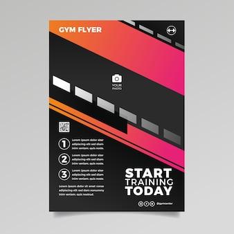 Gym sport flyer vorlage