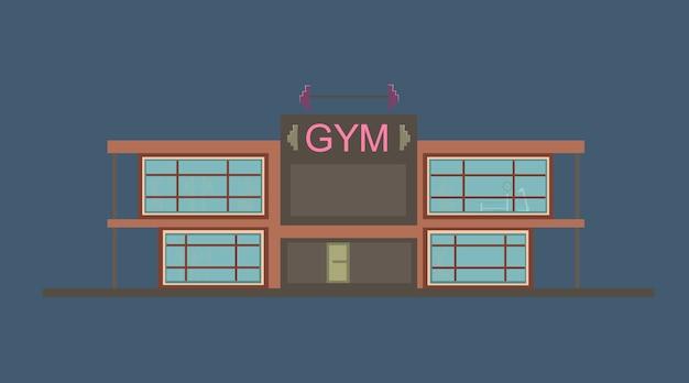 Gymnasiumillustration für animationshintergrund.