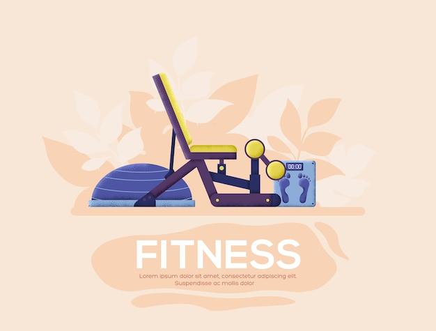 Gymnastik flyer, zeitschriften, poster, buchcover, banner. kornstruktur und geräuscheffekt.