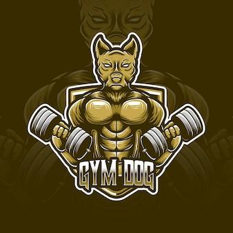 Gymnastik hund esport logo charakter symbol