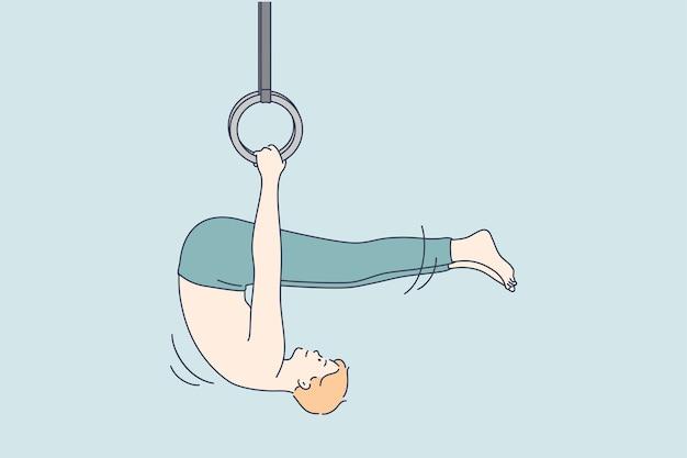 Gymnastik, sport, leichtathletik, wettkampfkonzept.