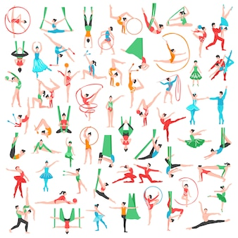 Gymnastik und ballett großes set