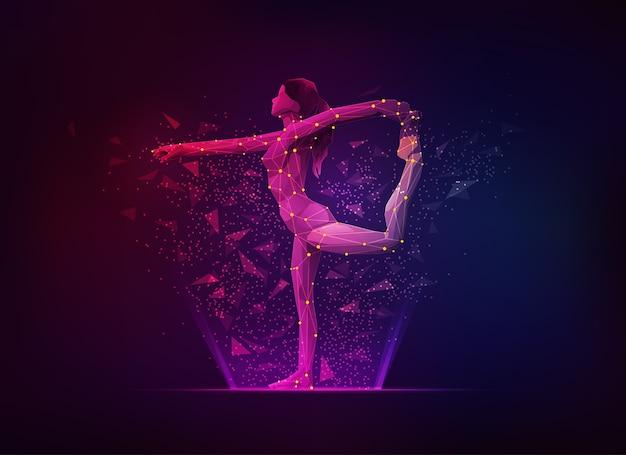 Gymnastische pose