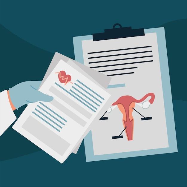 Gynäkologiebericht medizinisches dokument