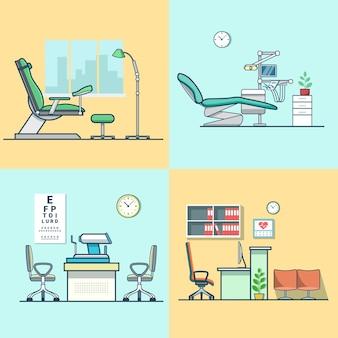 Gynäkologische gynäkologie zahnarzt augenarzt augenarztpraxis krankenhaus medizin frau gesundheitsraum innenraum innenset.