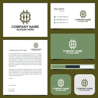 H-logo und visitenkarte