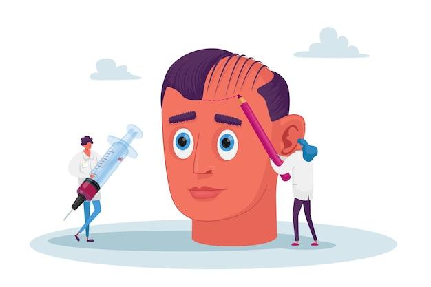 Haarausfall und zurückweichendes gesundheitsproblem