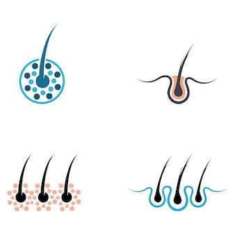 Haarbehandlungen logo vektor symbolbild