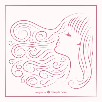 Haare skizze des mädchens