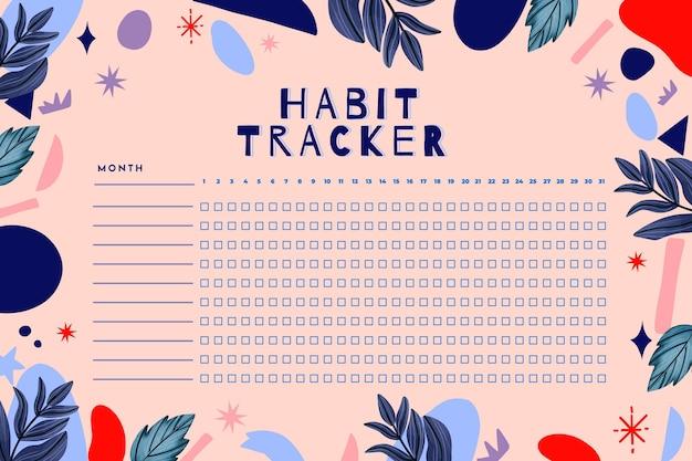 Habit tracker vorlage
