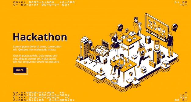 Hackathon isometrische landung, softwareentwicklung
