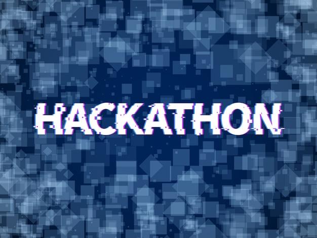 Hackathon. programmcode, software-marathon. hack day, hackfest oder codefest event vektor hackathon hintergrund
