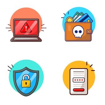 Hacker aktiviert vektor icon illustration. hacker-und technologie-ikonen-konzept-weiß lokalisiert