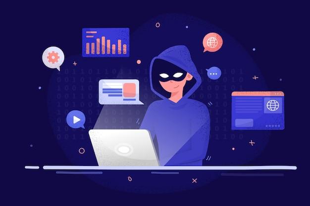 Hacker-aktivität dargestellt