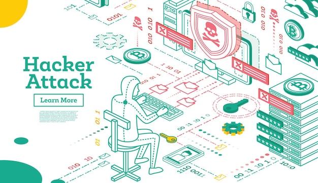 Hacker-angriff skizzieren