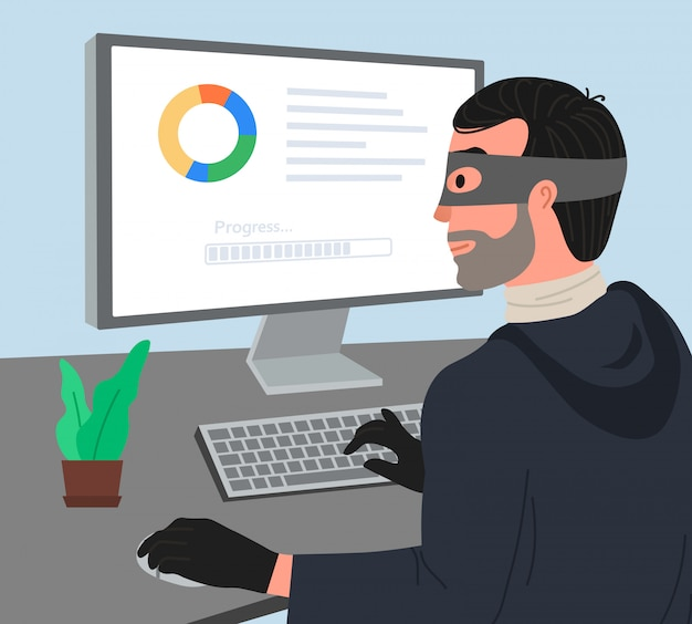 Hacker greifen illustartion an