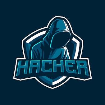 Hacker maskottchen logo illustration