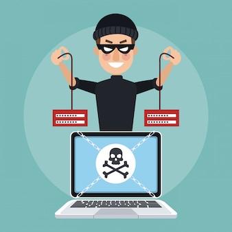 Hacker passwörter cartoons fangen