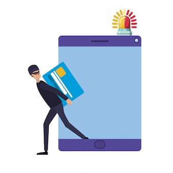 Hacker stiehlt informationen avatar charakter