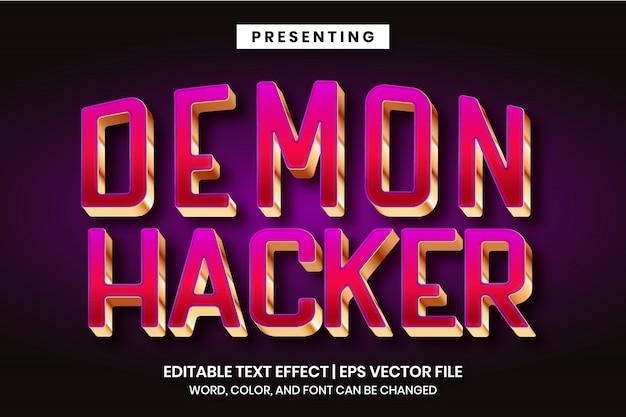 Hacking game logo vorlage - bearbeitbarer texteffekt