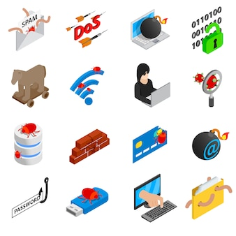 Hacking-icons gesetzt