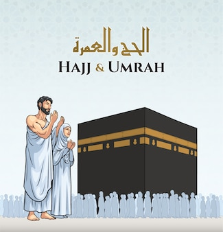 Hadsch und umrah illustration