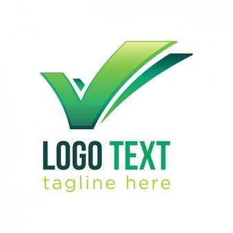 Häkchen geschäfts-logo-vorlage