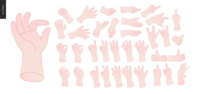 Hände eingestellt