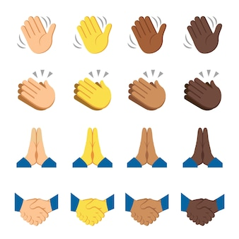 Hände finger signale vektor