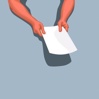 Hände geben papiere