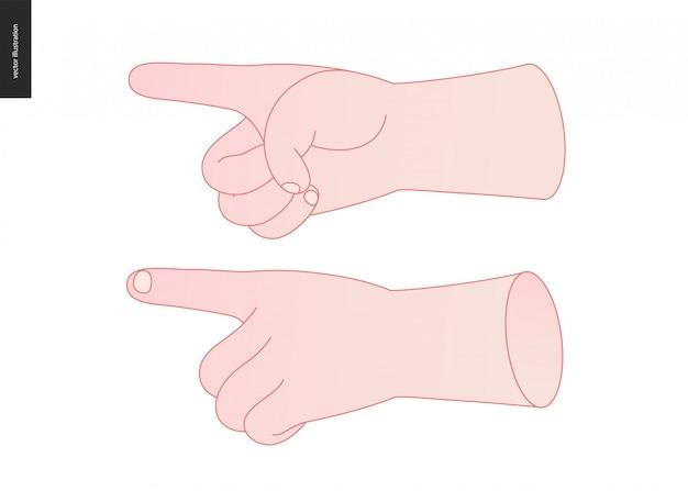 Hände gesetzt