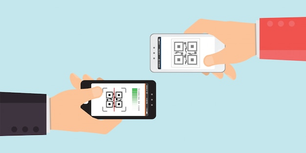 Hände halten smartphones
