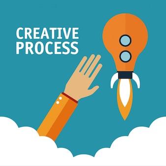 Hände im kreativen prozess