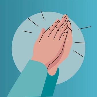 Hände menschen klatschen geste