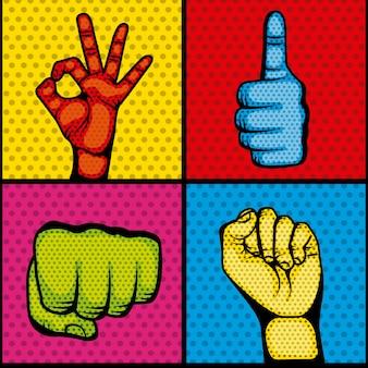 Hände menschlichen set sammlung symbol