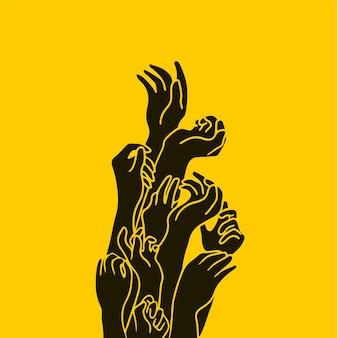 Hände symbol social media post vektor illustration