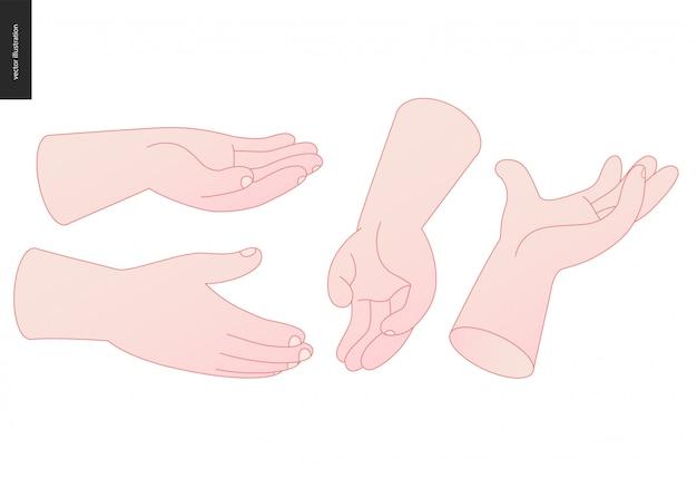 Hände vektor gesetzt
