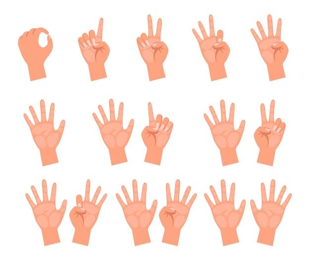 Hände von menschen, die illustrationen zählen