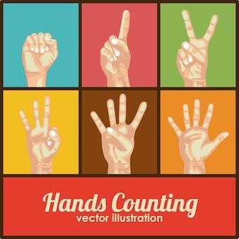 Hände zählen