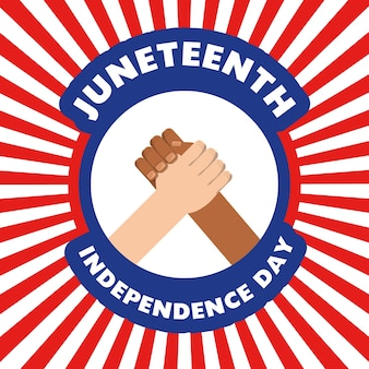 Hände zusammen, um unabhängigkeitstag zu feiern