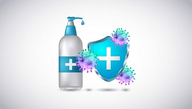 Händedesinfektionsmittel des immunsystems gegen die corona virus 2020-viruskrankheit.