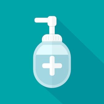 Händedesinfektionsmittel im flachen design