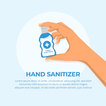 Händedesinfektionsmittel-konzept