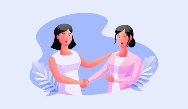 Händeschütteln von zwei geschäftspartnern