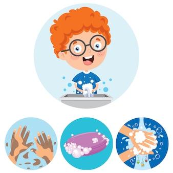 Händewaschen für die tägliche körperpflege