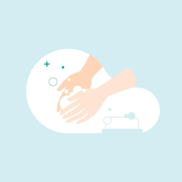 Händewaschen mit einer seife, um coronavirus zu verhindern
