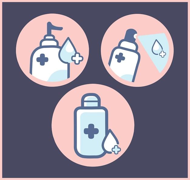 Händewaschen und händedesinfektionsmittel